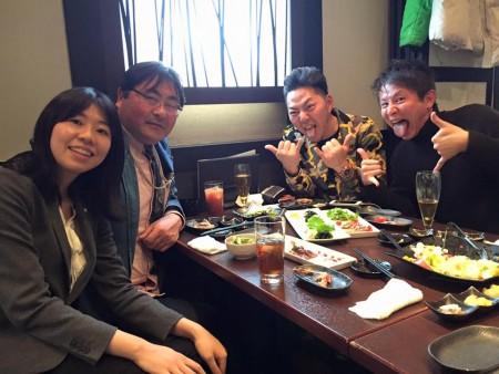 夜は、富士フイルム懇談会へ。萩原史郎さん達と技術論