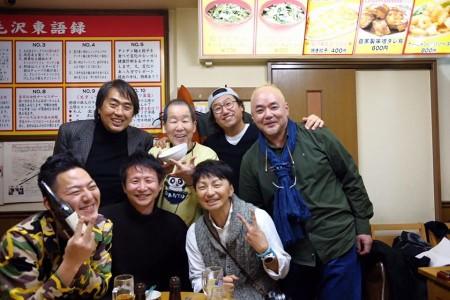帰りたくない餃子会。小原玲さん、パークさん、田中雅美さん、むらいさちさん達と。